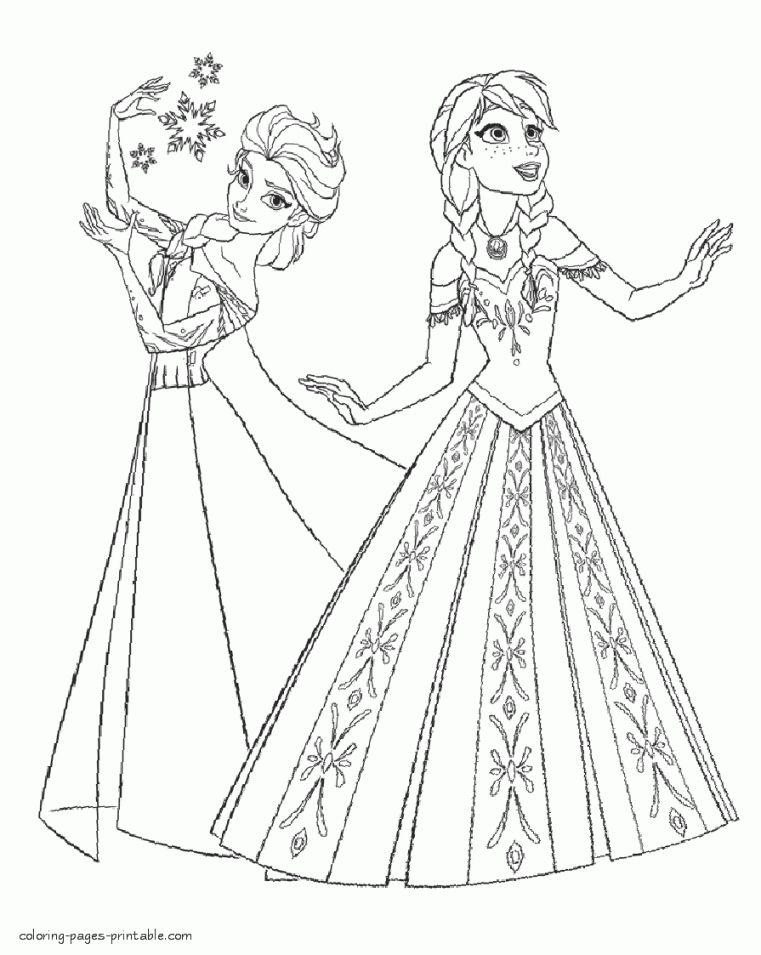 Tranh Tô Màu Elsa Và Anna 26