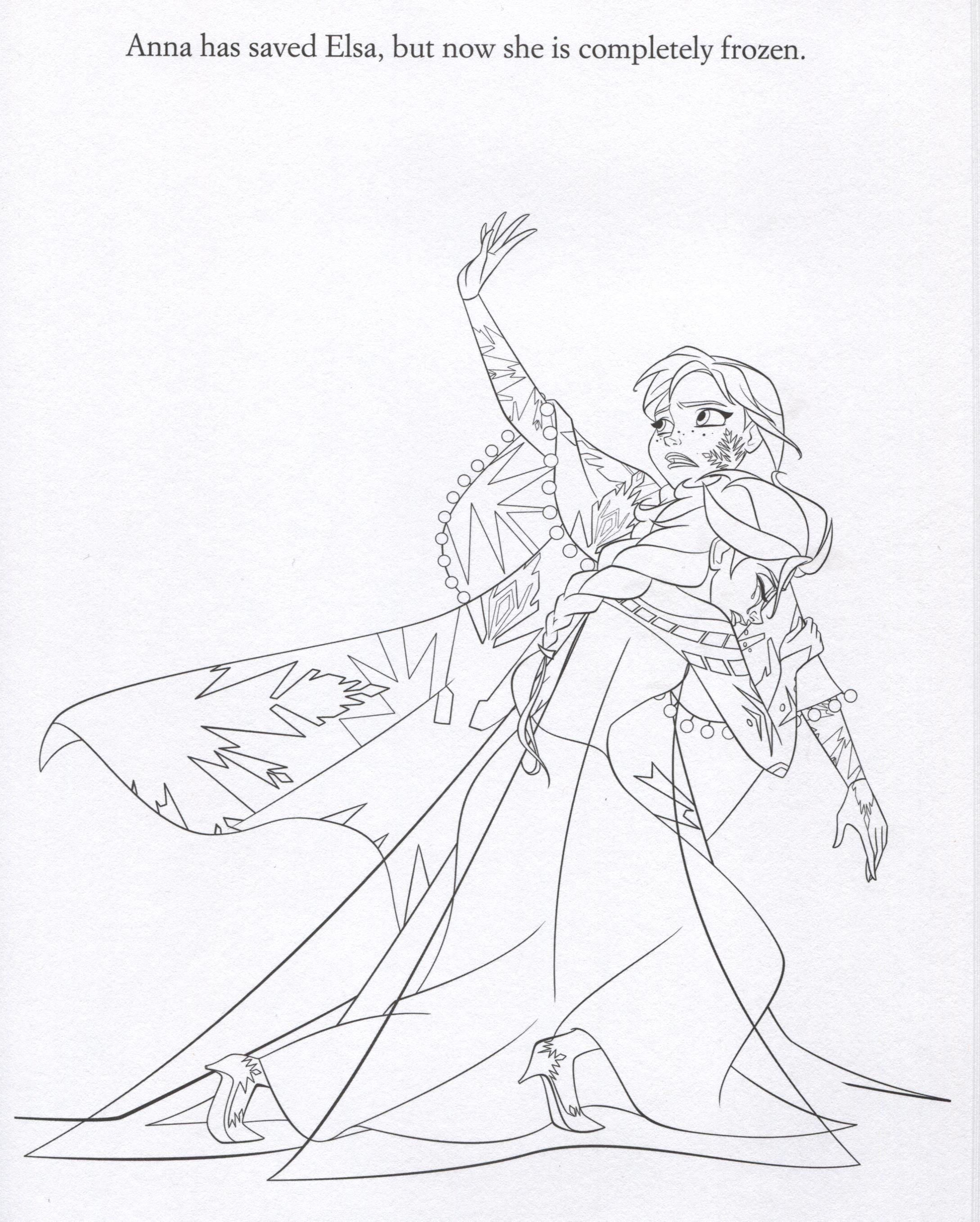 Tranh Tô Màu Elsa Và Anna 30