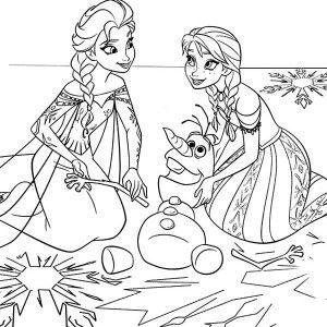 Tranh Tô Màu Elsa Và Anna 34
