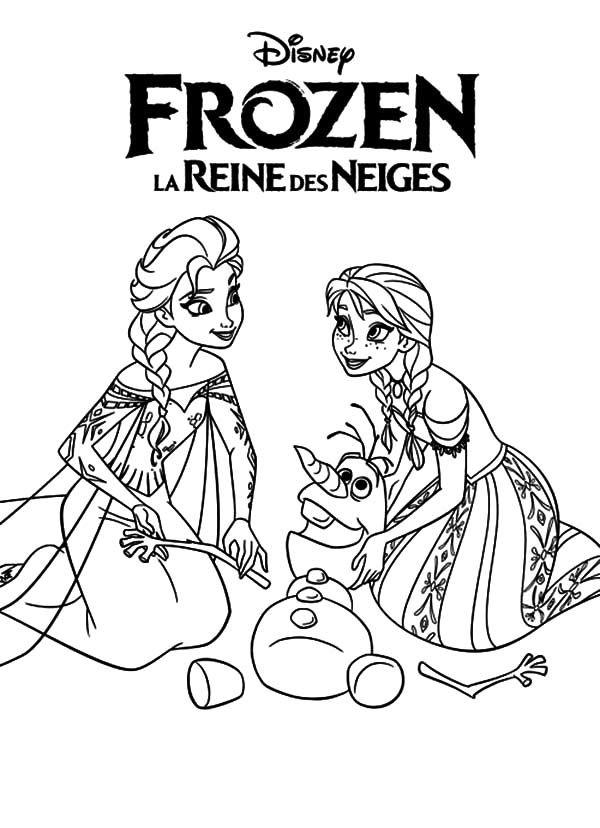Tranh Tô Màu Elsa Và Anna 35