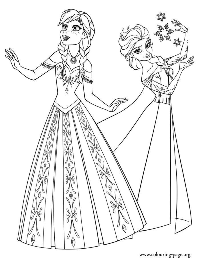 Tranh Tô Màu Elsa Và Anna 4