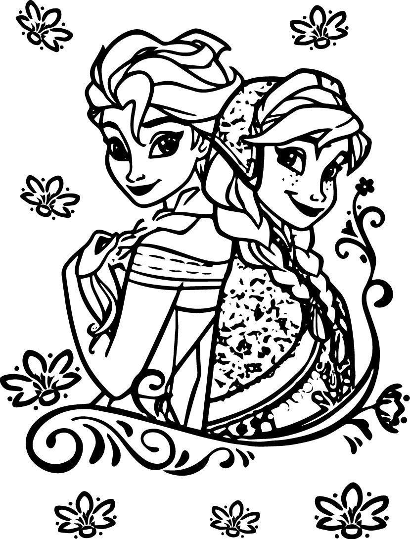 Tranh Tô Màu Elsa Và Anna 5