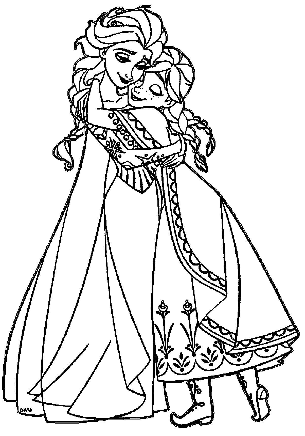 Tranh Tô Màu Elsa Và Anna 7