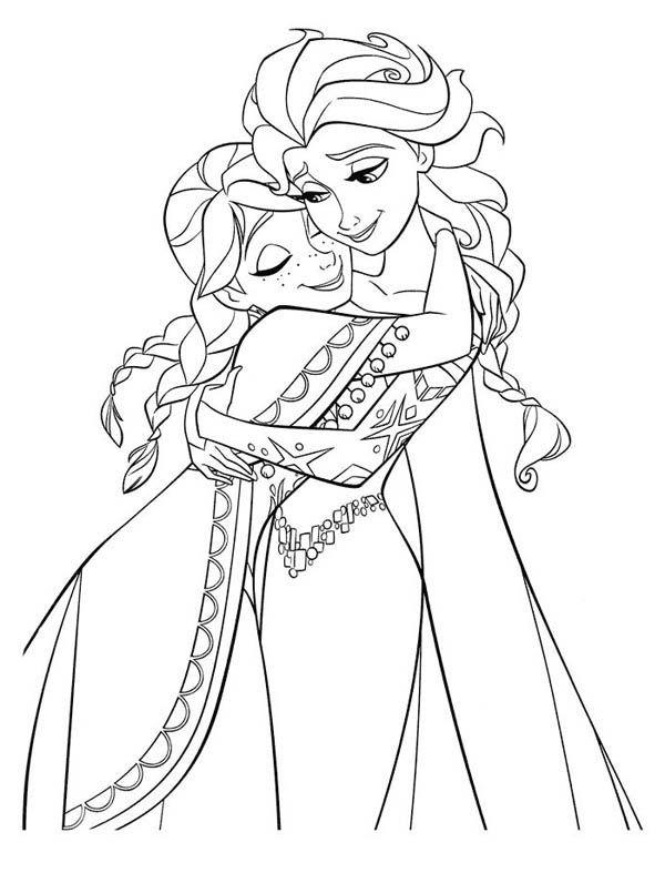Tranh Tô Màu Elsa Và Anna 8