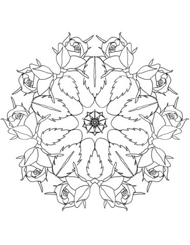 Tranh Tô Màu Hoa Hồng 39