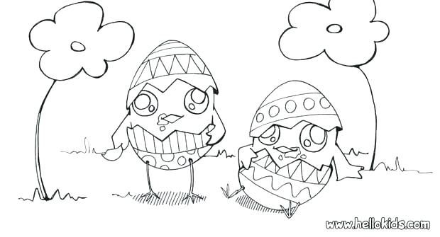 Easter Chicks Coloring Page 10
