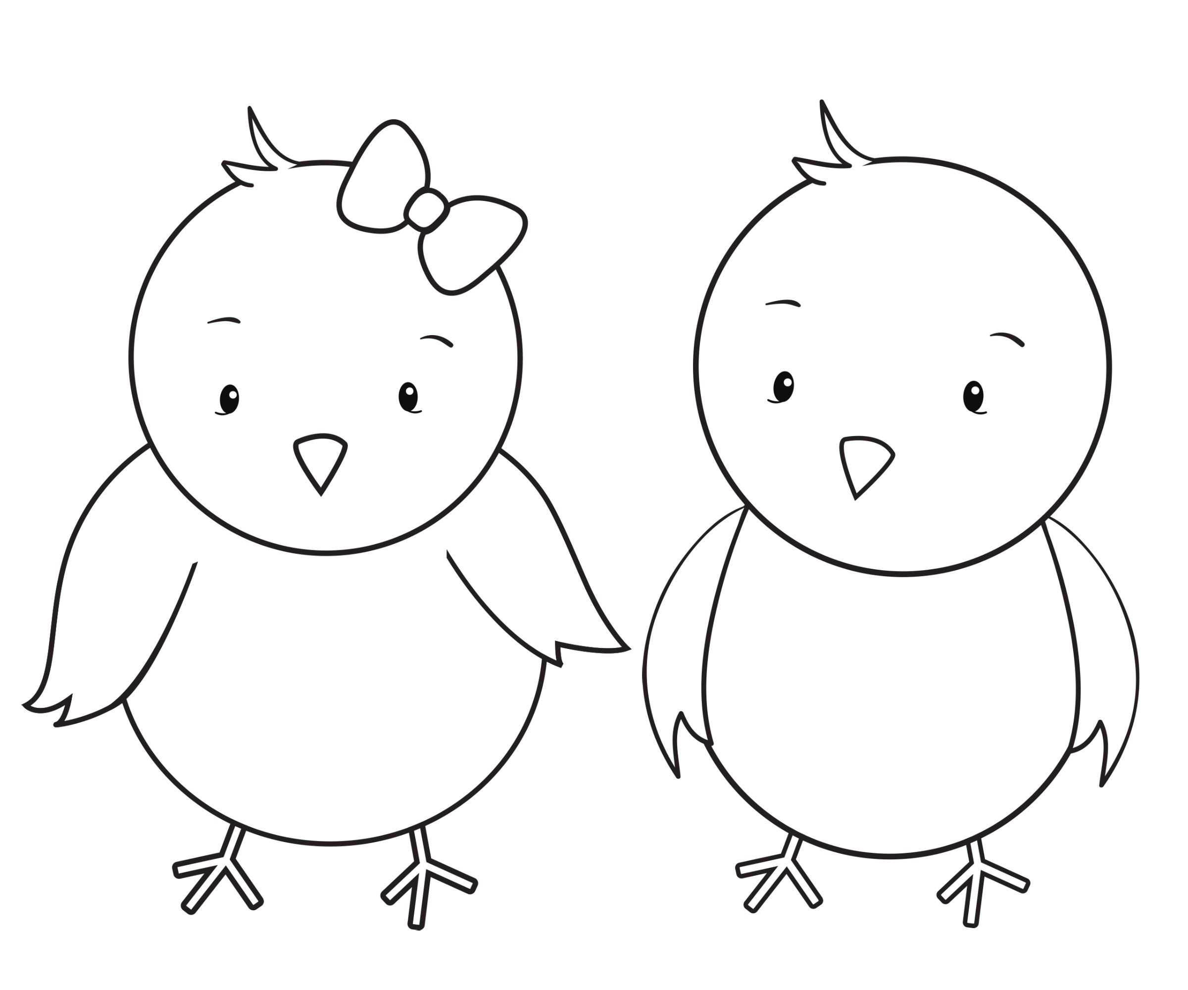 Easter Chicks Coloring Page 11