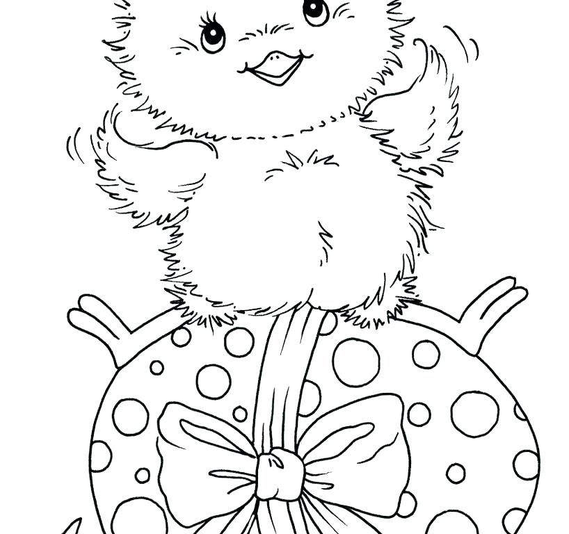 Easter Chicks Coloring Page 12