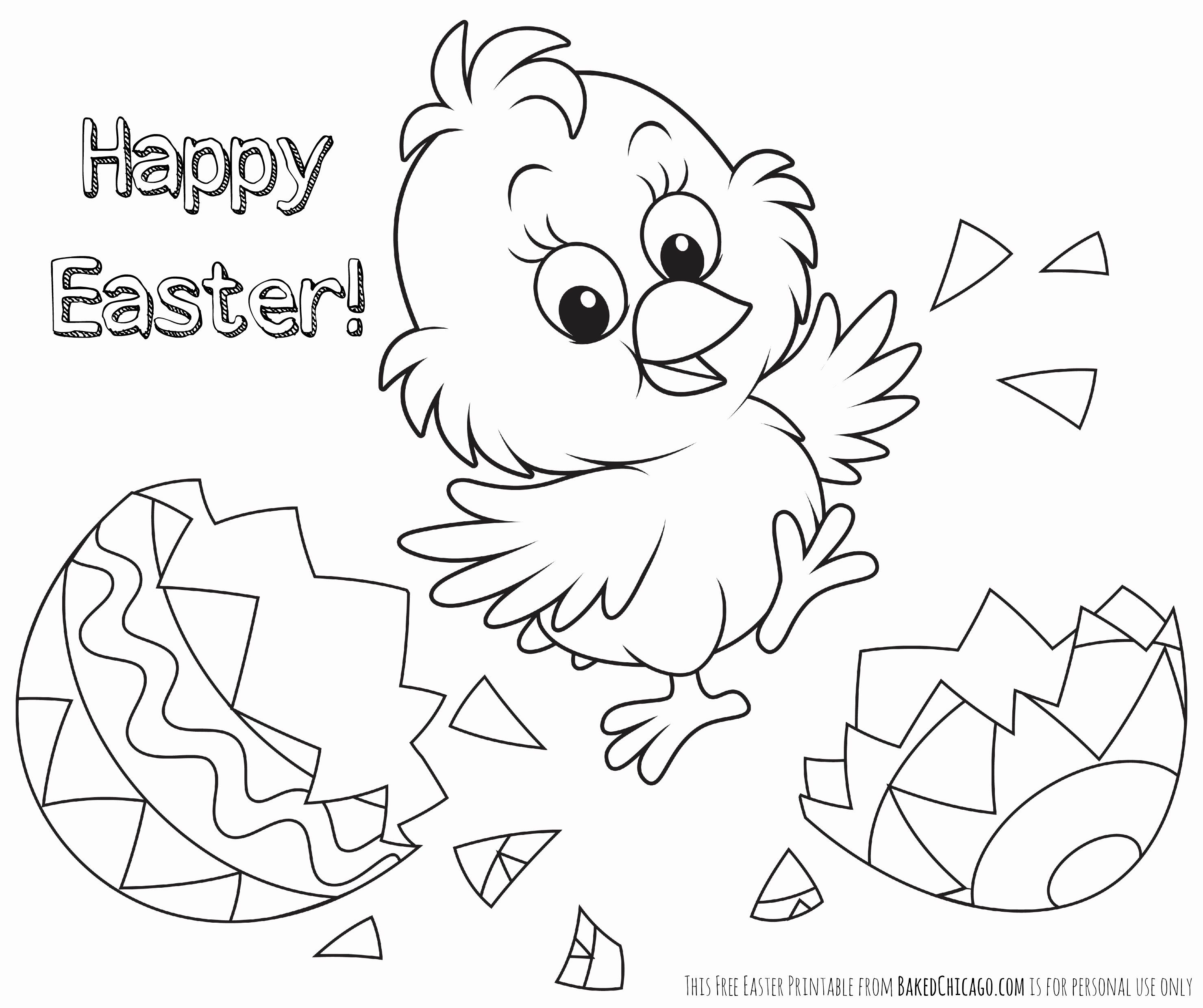 Easter Chicks Coloring Page 13