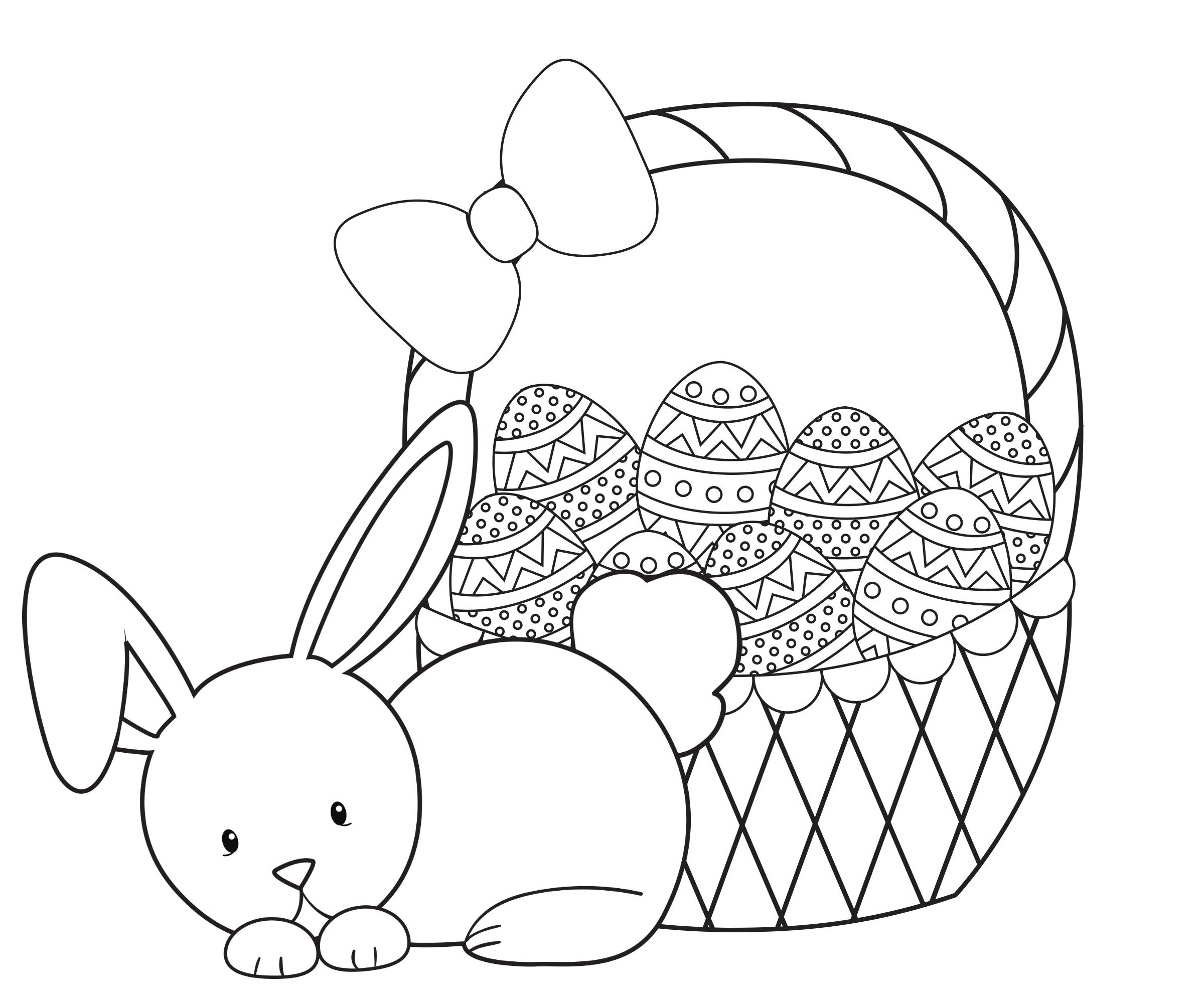 Easter Chicks Coloring Page 23