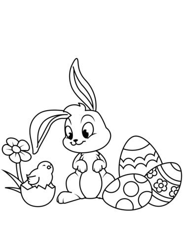 Easter Chicks Coloring Page 24