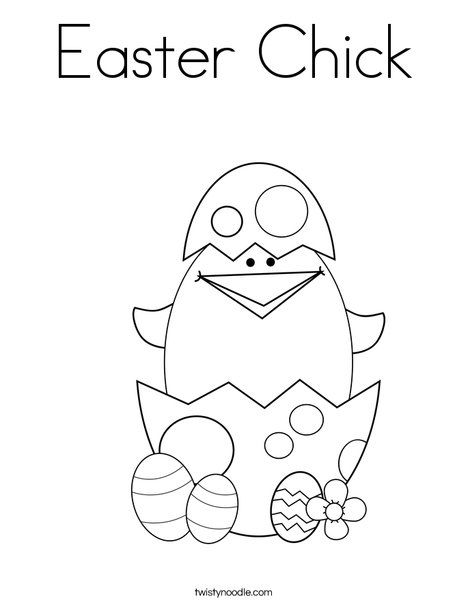 Easter Chicks Coloring Page 26