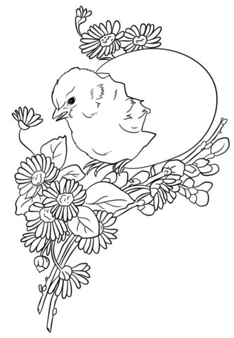 Easter Chicks Coloring Page 27
