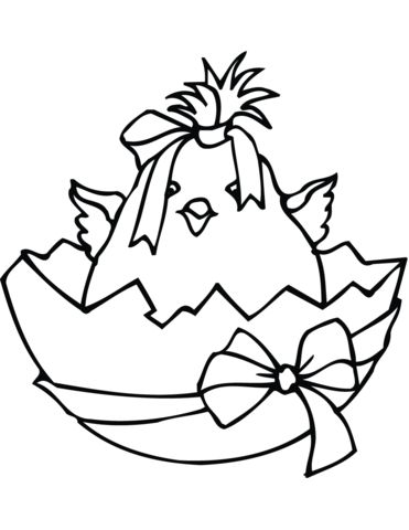 Easter Chicks Coloring Page 28