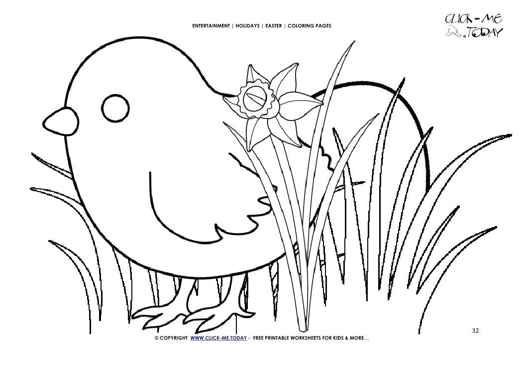 Easter Chicks Coloring Page 33