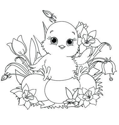 Easter Chicks Coloring Page 36