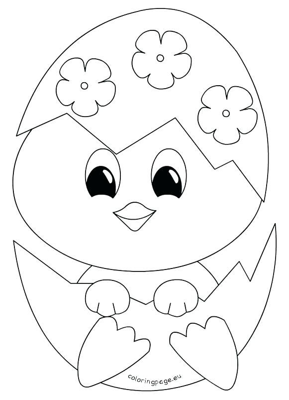 Easter Chicks Coloring Page 39