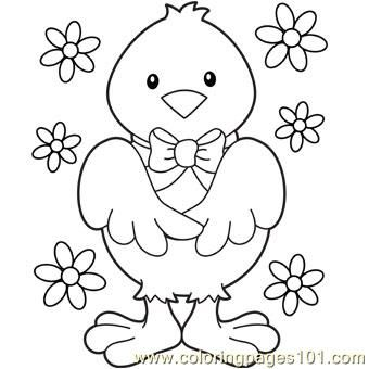 Easter Chicks Coloring Page 46