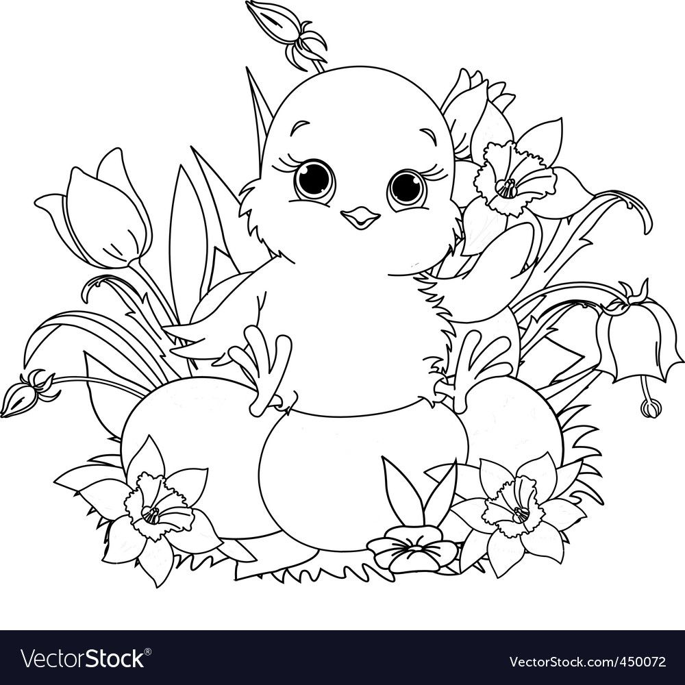 Easter Chicks Coloring Page 51