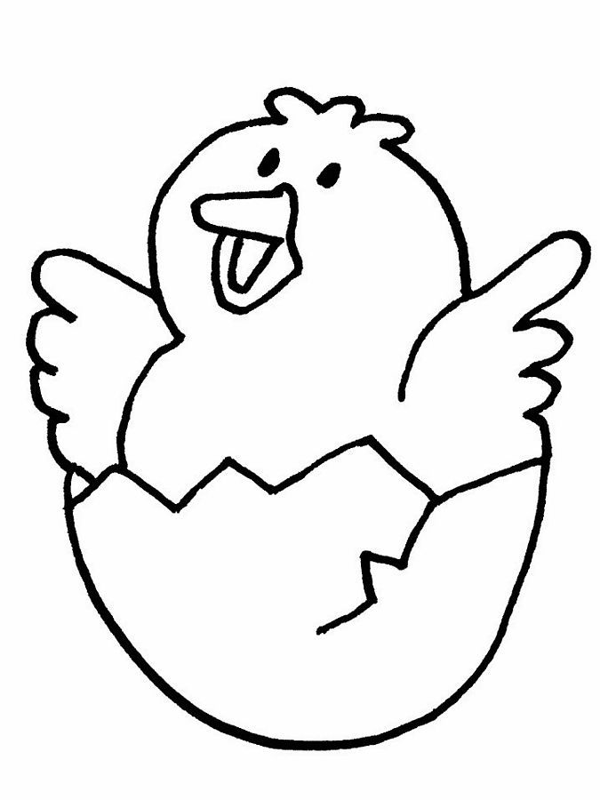 Easter Chicks Coloring Page 55
