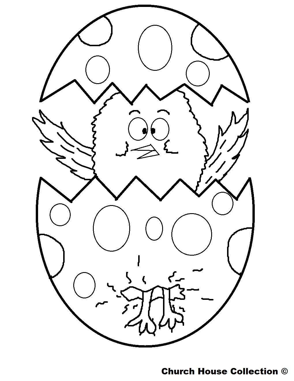 Easter Chicks Coloring Page 59