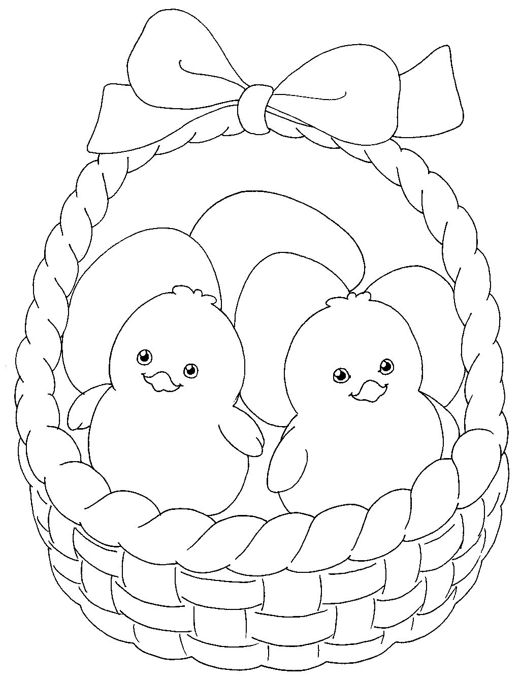 Easter Chicks Coloring Page 60