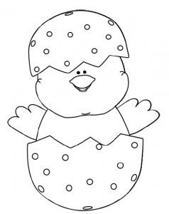 Easter Chicks Coloring Page 8