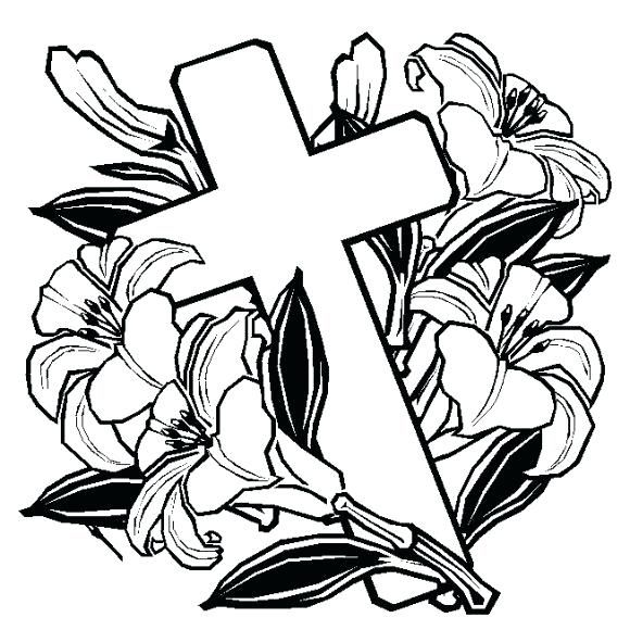 Easter Lily Coloring Page 1