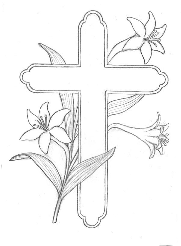 Easter Lily Coloring Page 25