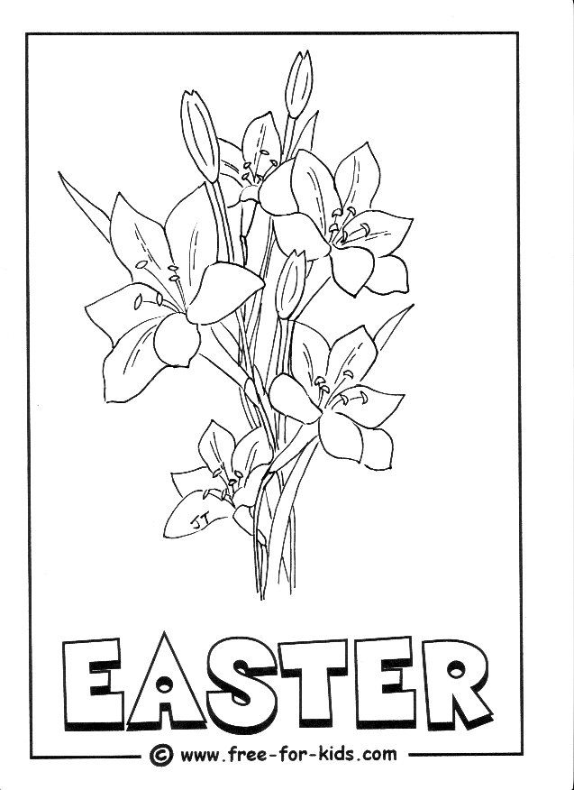 Easter Lily Coloring Page 34