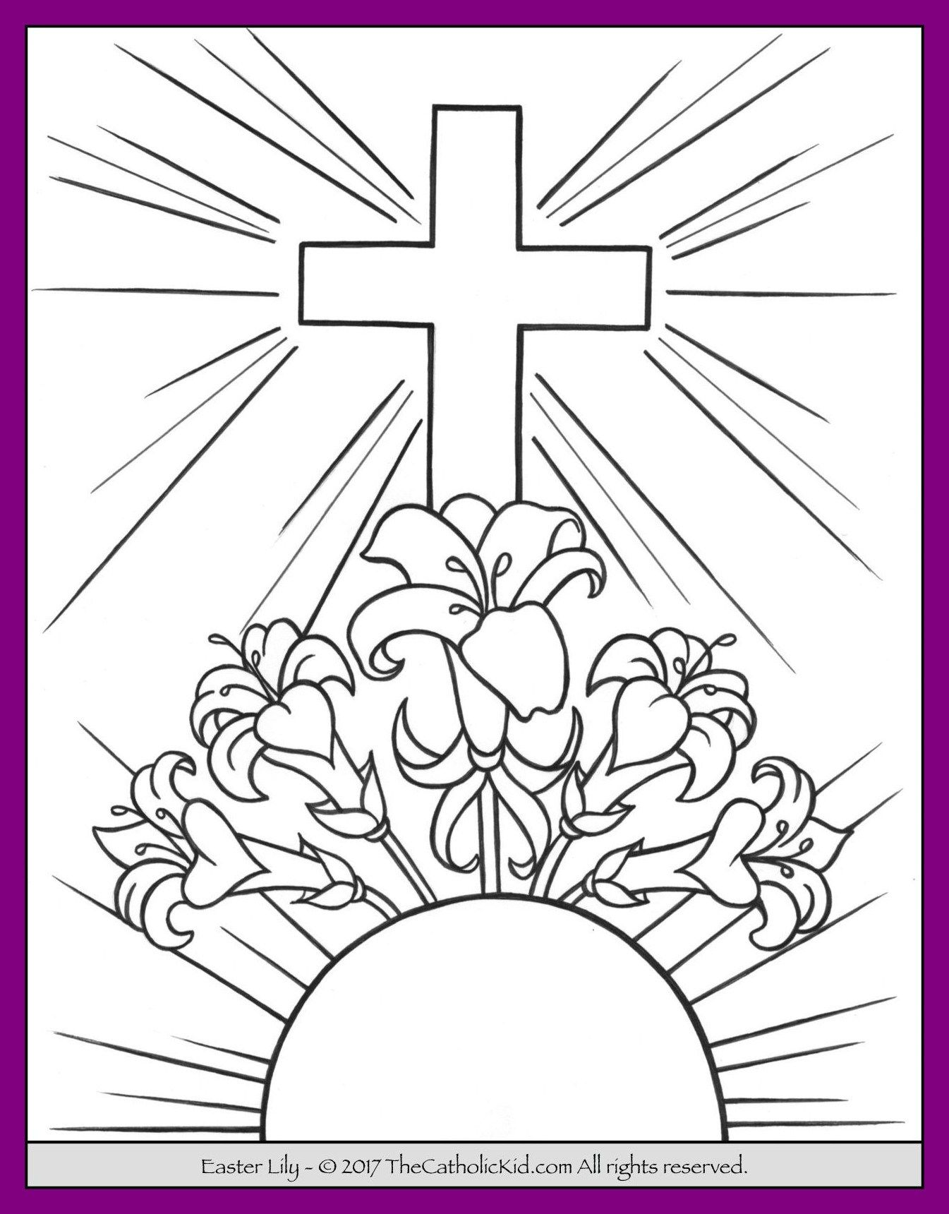 Easter Lily Coloring Page 35