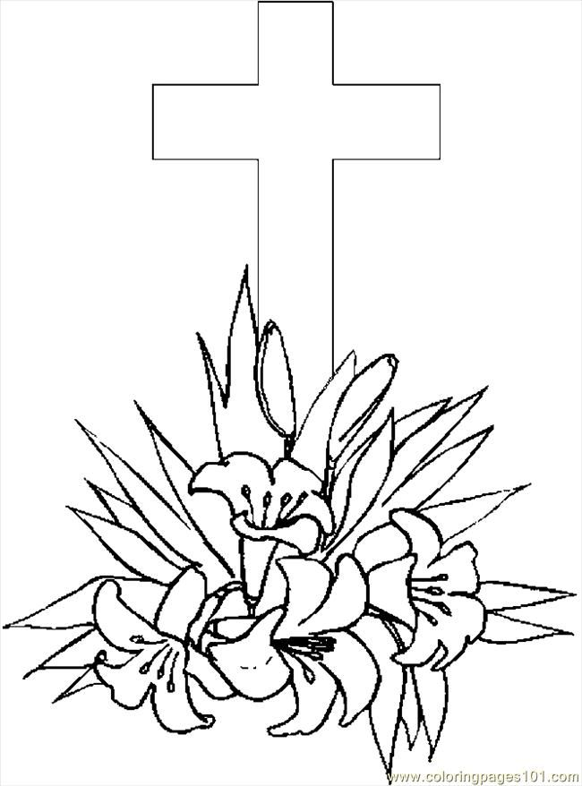 Easter Lily Coloring Page 40