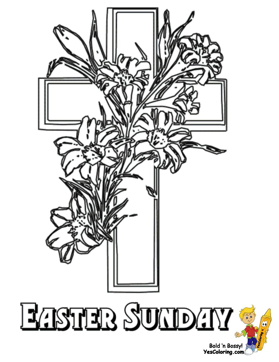 Easter Lily Coloring Page 41