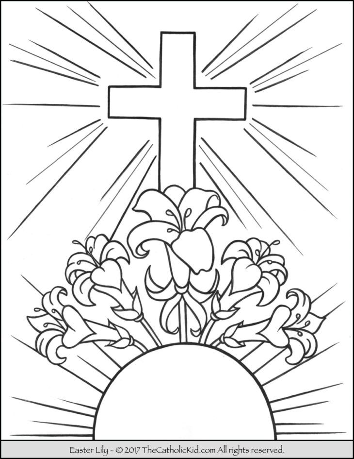 Easter Lily Coloring Page 42