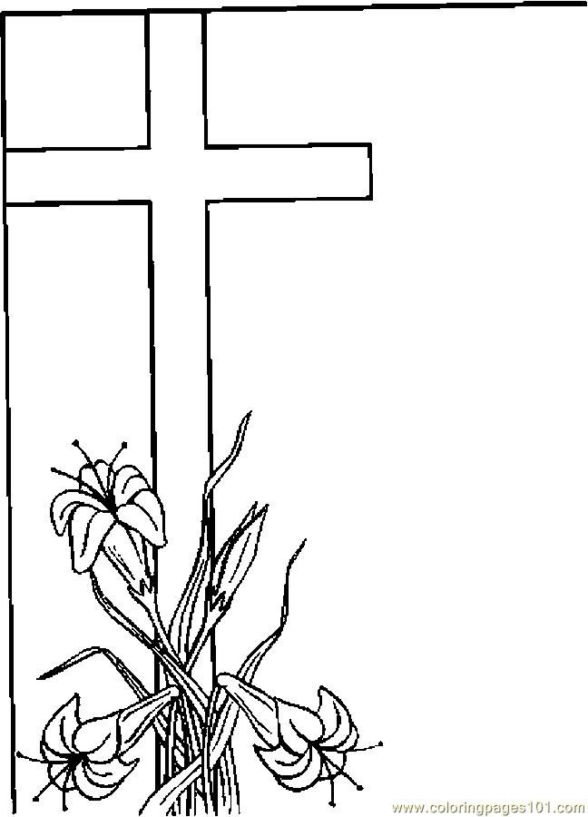 Easter Lily Coloring Page 7