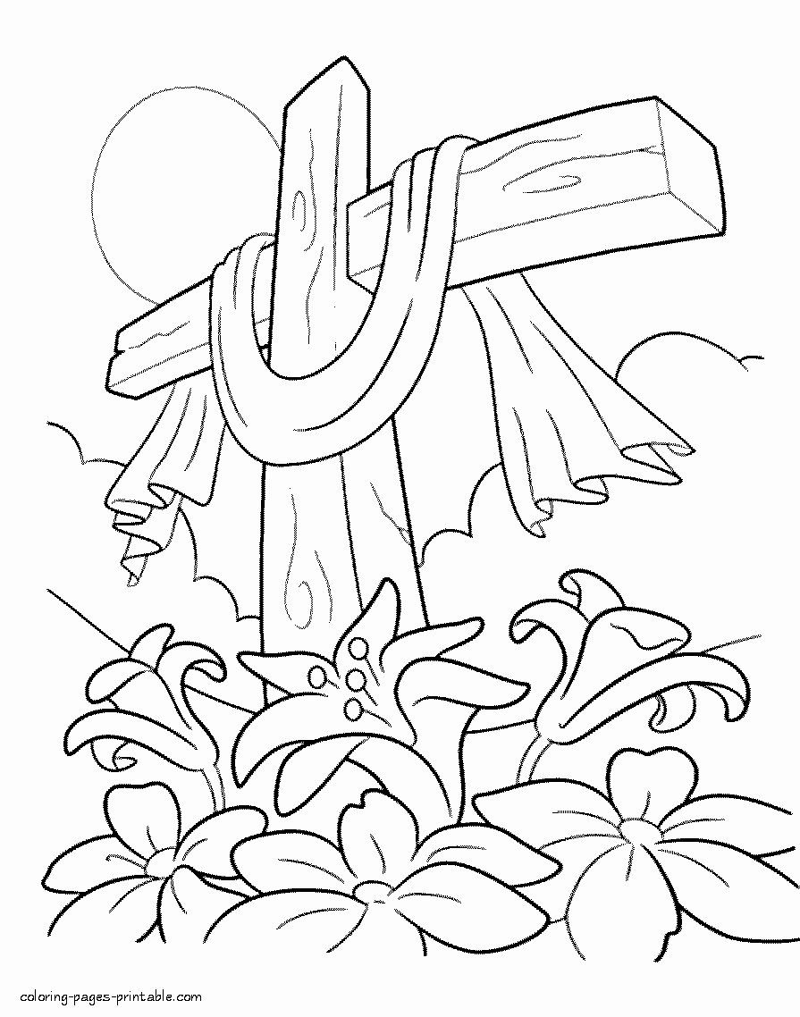 Easter Lily Coloring Page 9