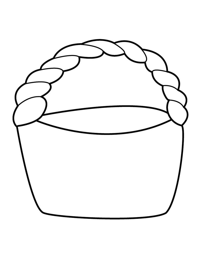Empty Easter Basket Coloring Page 10