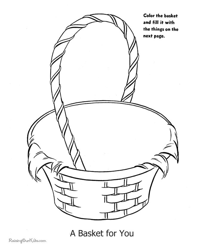 Empty Easter Basket Coloring Page 12