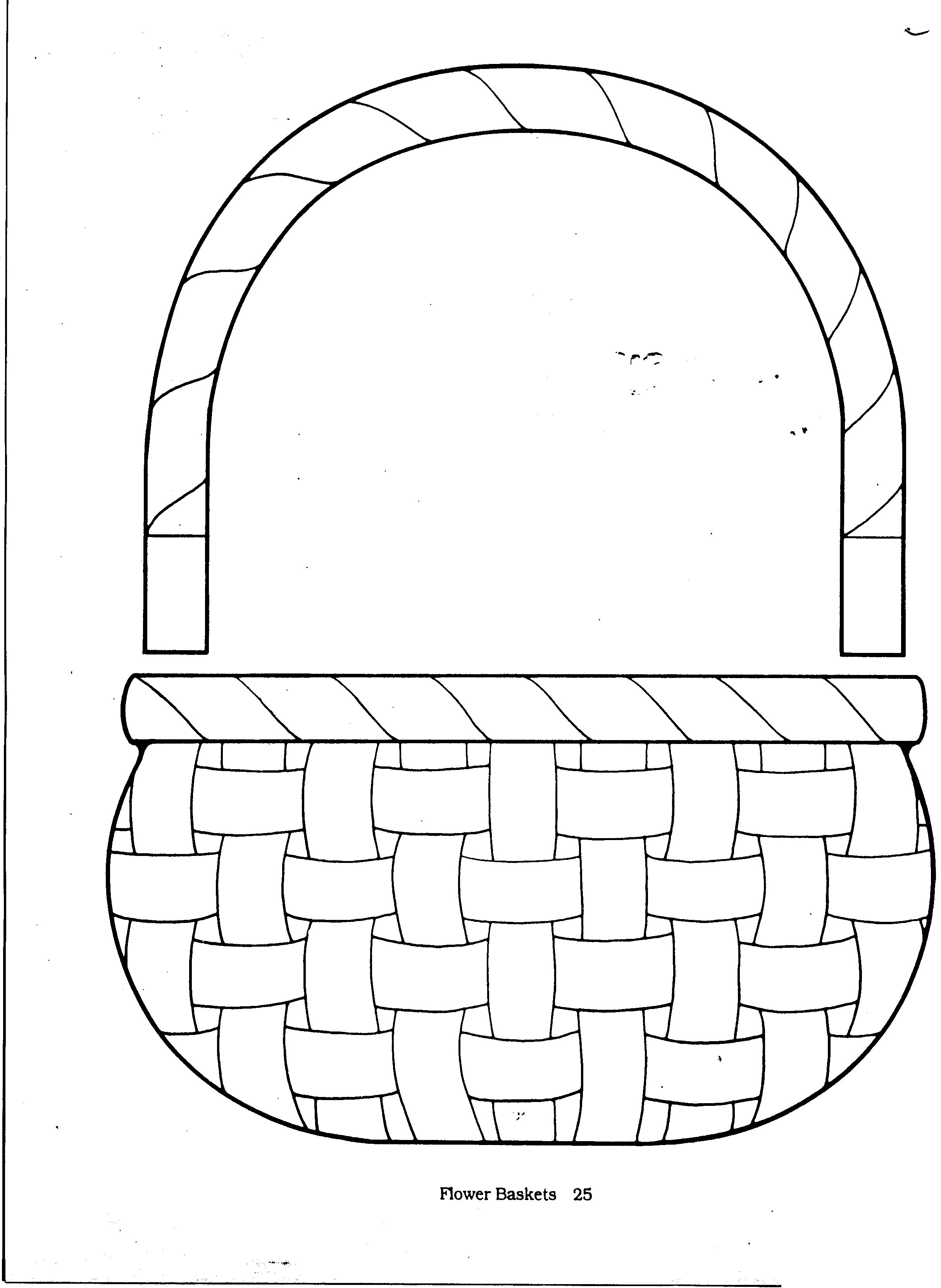 Empty Easter Basket Coloring Page 13
