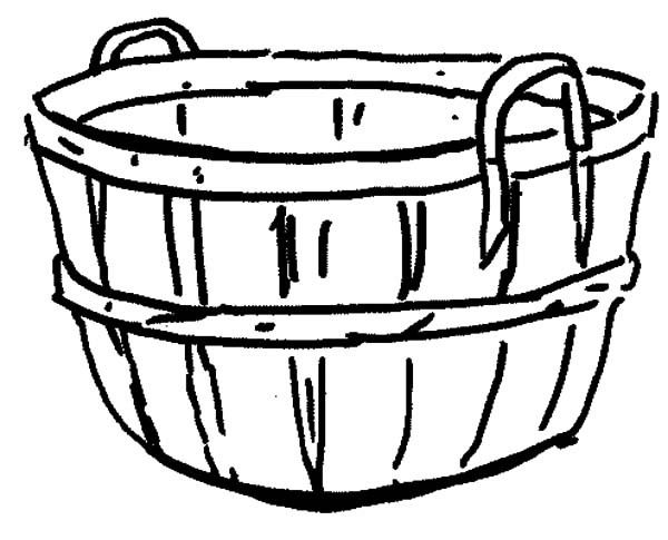 Empty Easter Basket Coloring Page 6