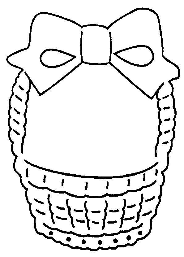 Empty Easter Basket Coloring Page 7