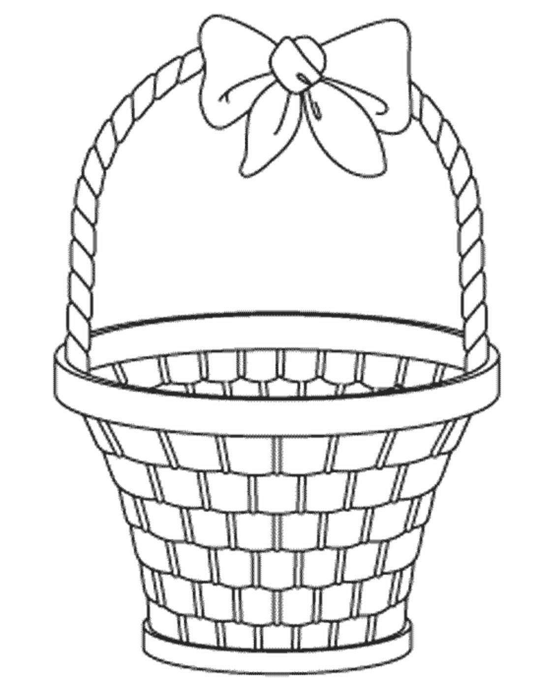 Empty Easter Basket Coloring Page 8