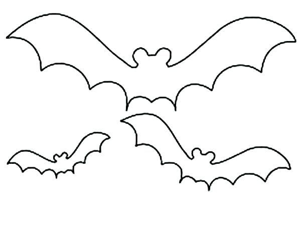 Halloween Coloring Pages Bats 1