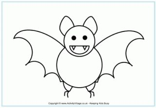 Halloween Coloring Pages Bats 13