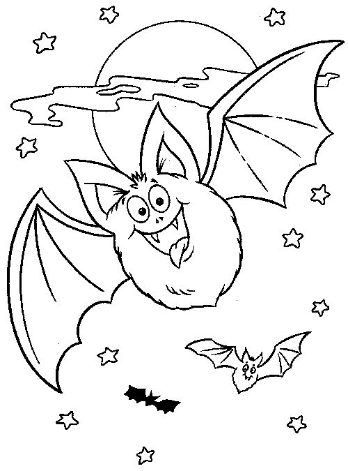 Halloween Coloring Pages Bats 16