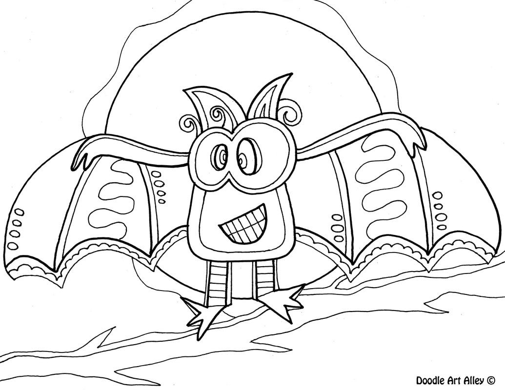 Halloween Coloring Pages Bats 18