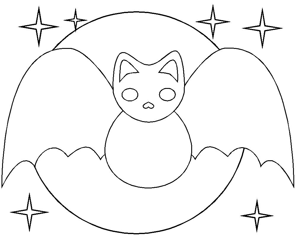 Halloween Coloring Pages Bats 19