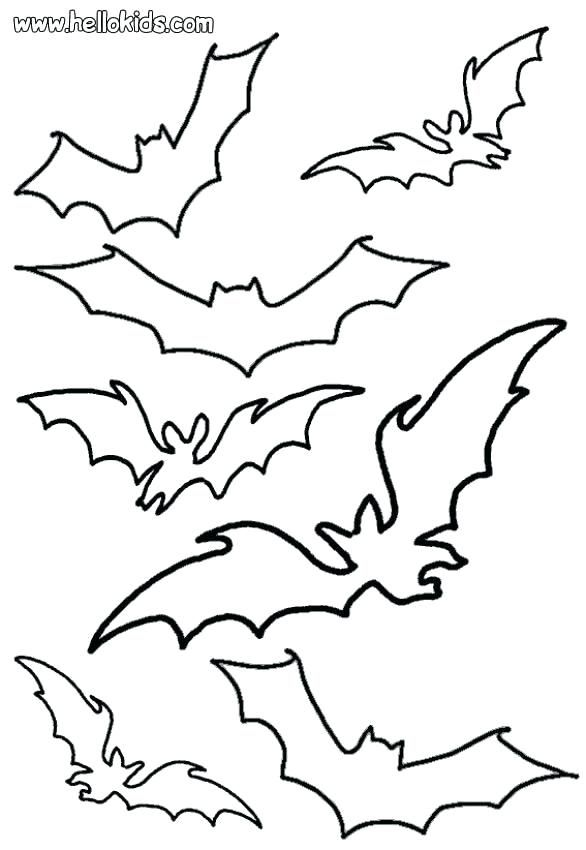 Halloween Coloring Pages Bats 2
