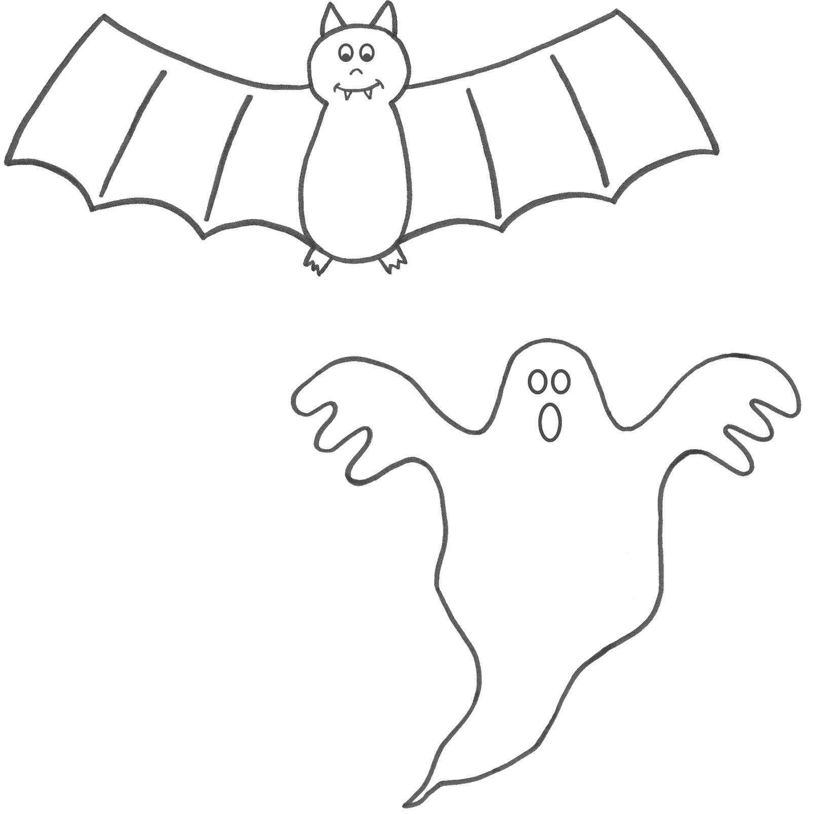 Halloween Coloring Pages Bats 27