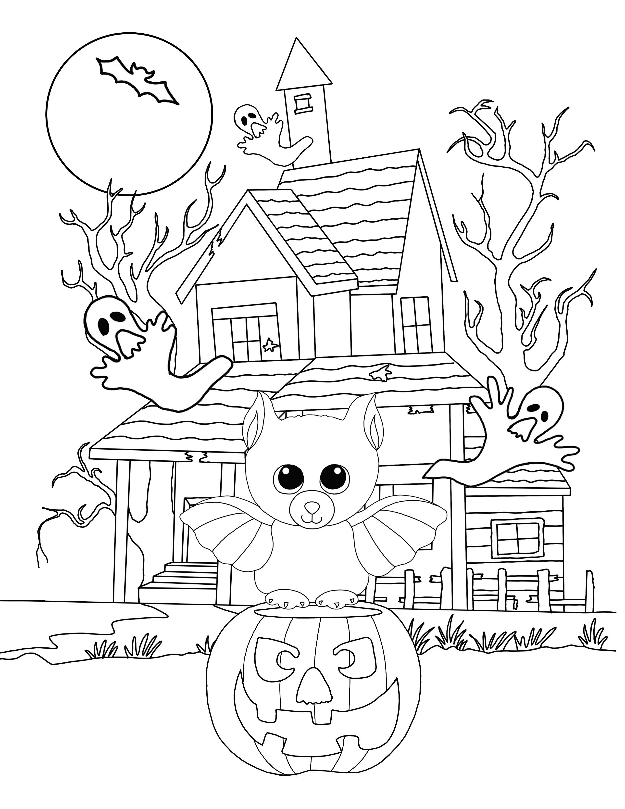 Halloween Coloring Pages Bats 29